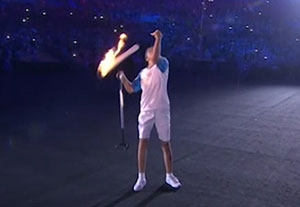 سقوط مشعل پارالمپیک ریو 2016