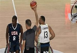 خلاصه بسکتبال با ویلچر برزیل 36-75 آمریکا