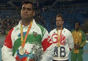 مراسم اهدای مدال نقره سجاد محمدیان