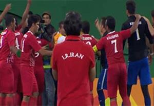 شادی تیم فوتبال 5 نفره ایران بعد از صعود به فینال