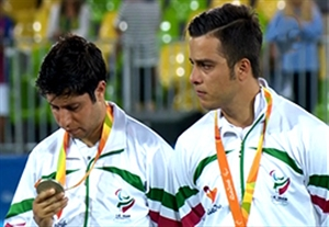 مراسم اهدای مدال نقره ایران در فوتبال 7 نفره پارالمپیک