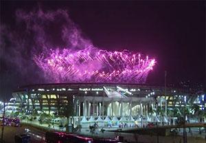 نمای بیرونی آتش بازی اختتامیه پارالمپیک ریو