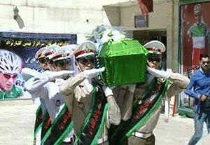 مراسم تشییع پیکر مرحوم گلبارنژاد با حضور مسئولین