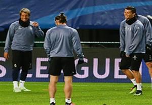 روحیه بالای رونالدو در تمرینات قبل از بازی مقابل اسپورتینگ