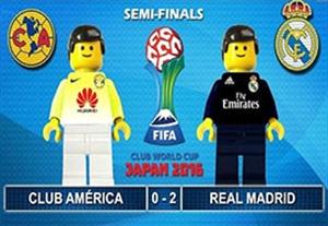 شبیه سازی جالب گلهای بازی کلاب آمریکا-رئال مادرید با لگو