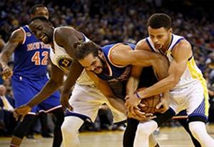 خلاصه بسکتبال نیویورک نیکس 90-103 گلدن استیت