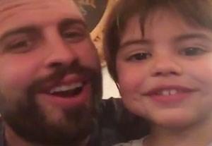 آوازخوانی پیکه و پسرش در تعطیلات سال نو