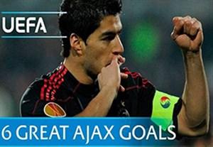 6 گل برتر آژاکس در رقابت های اروپایی