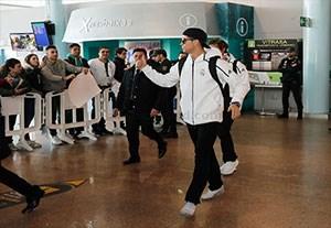 ورود بازیکنان رئال مادرید به شهر ویگو