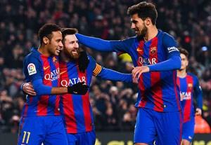 خلاصه بازی بارسلونا 5-2 رئالسوسیداد (درخشش مسی و دنیس سوارز)