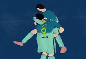 انیمیشن سوپرگل سوارز و مسی به اتلتیکومادرید