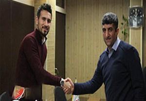 لحظه امضا قرار داد شهباززاده با نفت تهران