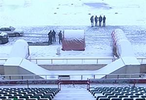 بارش برف شدید و لغو بازی سیاه جامگان - تراکتورسازی