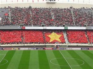 ستاره آسیایی روی سکوی استادیوم آزادی