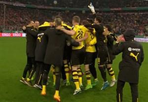 شادی بازیکنان دورتموند بعد از صعود به فینال جام حذفی
