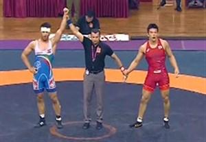 کسب مدال طلای نوری در کشتی فرنگی قهرمانی آسیا