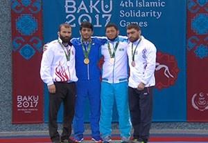 اهدا مدال طلای حسن یزدانی در کشتی آزاد کشورهای اسلامی