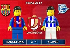 شبیه سازی قهرمانی بارسلونا در جام حذفی با لگو