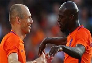 گلهای بازی هلند 5-0 ساحل عاج