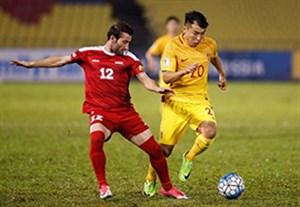 خلاصه بازی سوریه 2-2 چین