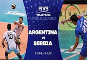 خلاصه والیبال آرژانتین 2-3 صربستان