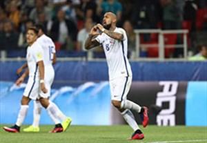 خلاصه بازی شیلی 2-0 کامرون