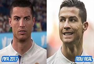 تغییر چهره رونالدو در فیفا از 2000 تا 2017