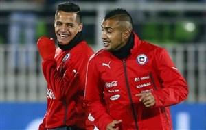 بازیکنان شیلی در حالتی غیر عادی بودند