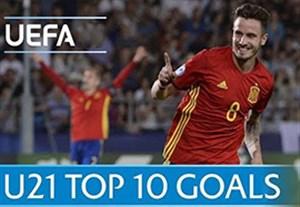 10 گل برتر جام ملت های اروپا زیر 21 سال