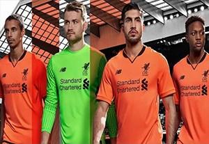 رونمایی از پیراهن سوم باشگاه لیورپول