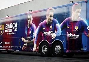 آماده کردن اتوبوس بارسلونا برای تور آمریکا