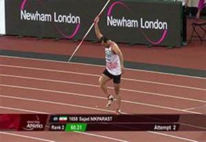 کسب مدال نقره نیک پرست در پرتاب نیزه معلولین جهان