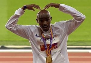 قهرمانی محمد فرح در دوی 10000 متر جهان