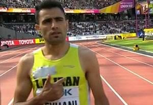 رقابت حسین کیهانی در دو 3000 متر با مانع جهان