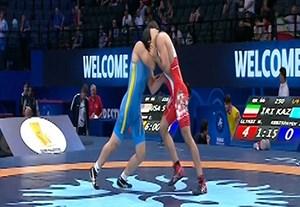 پیروزی محمد الیاسی مقابل حریف قزاقستانی