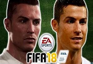 شباهت چهره بازیکنان در فیفا 18