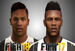 مقایسه چهره بازیکنان یوونتوس در FIFA17 و FIFA18