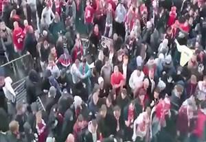درگیری هواداران کلن با پلیس پیش از بازی با آرسنال