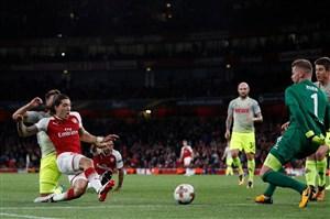 پیروزی دشوار آرسنال مقابل کلن در لیگ اروپا