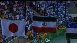 مراسم اهدای مدال فوتسال مسابقات داخل سالن آسیا