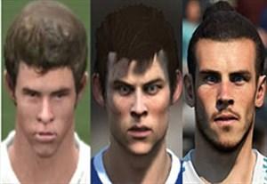 مقایسه چهره گرت بیل در 07 FIFA تا FIFA 18