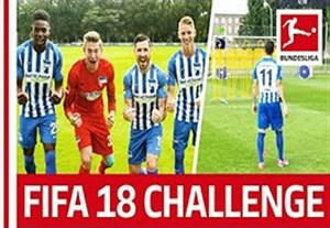 چالش ضربه آزاد بازیکنان هرتابرلین به سبک FIFA 18