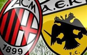 خلاصه بازی آث میلان 0 - AEK 0