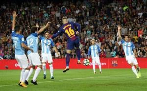 بارسلونا 2-0 مالاگا؛ با درخشش داور و اینیستا!