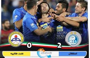 خلاصه بازی استقلال 2 - نفت تهران 0
