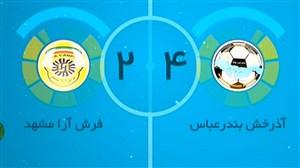 خلاصه فوتسال آذرخش بندرعباس 4 - فرش آرا 2