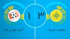 خلاصه فوتسال مقاومت قرچک 3 - آتلیه تهران قم 1