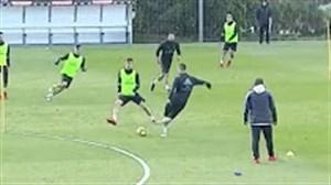 حرکت دیدنی رونالدو در تمرین رئال مادرید