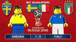 شبیه سازی بازی سوئد و ایتالیا با لگو