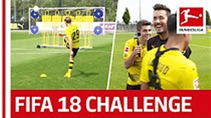 چالش ضربه آزاد ستارگان دورتموند به سبک FIFAFIFA